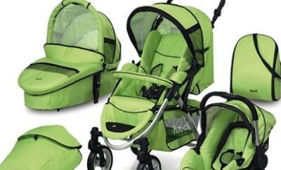 Viele Arten von Kinderwagen warten auf ein Baby