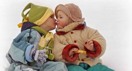 Erfrierungen bei einem Baby und Unterkühlung