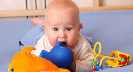Verletzungen beim Baby durch Fremdkörper