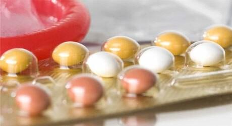 Foto von einer Packung der Pille zur Verhütung