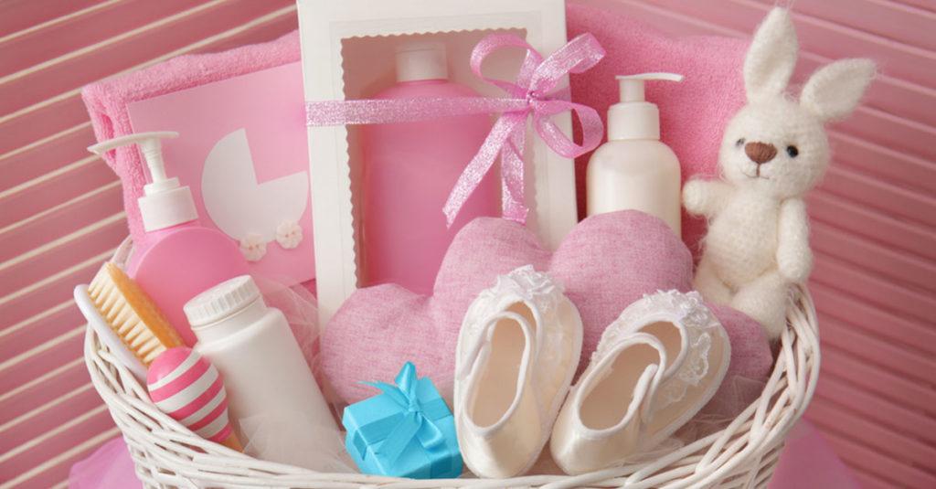 Geschenkkorb für Baby