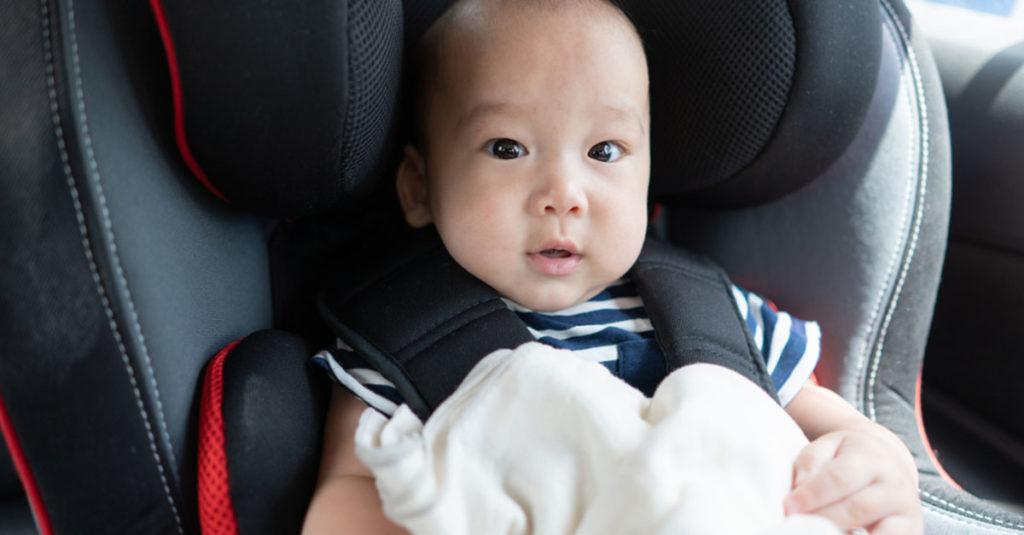 Kindersitz für ein Baby