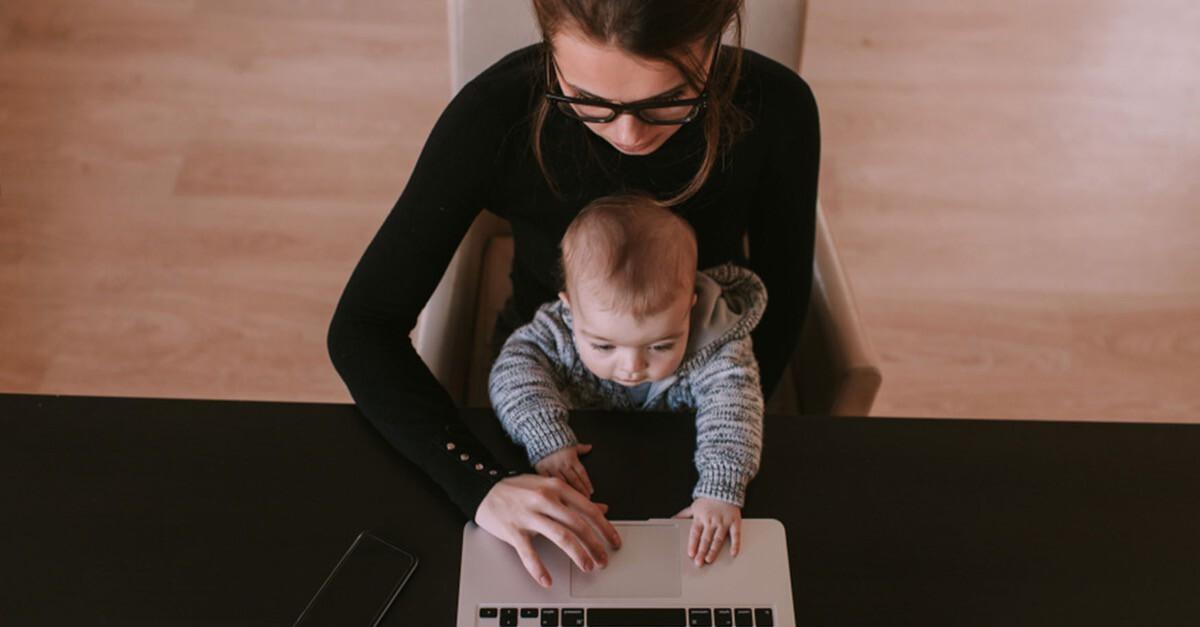 Mutter sein und Job