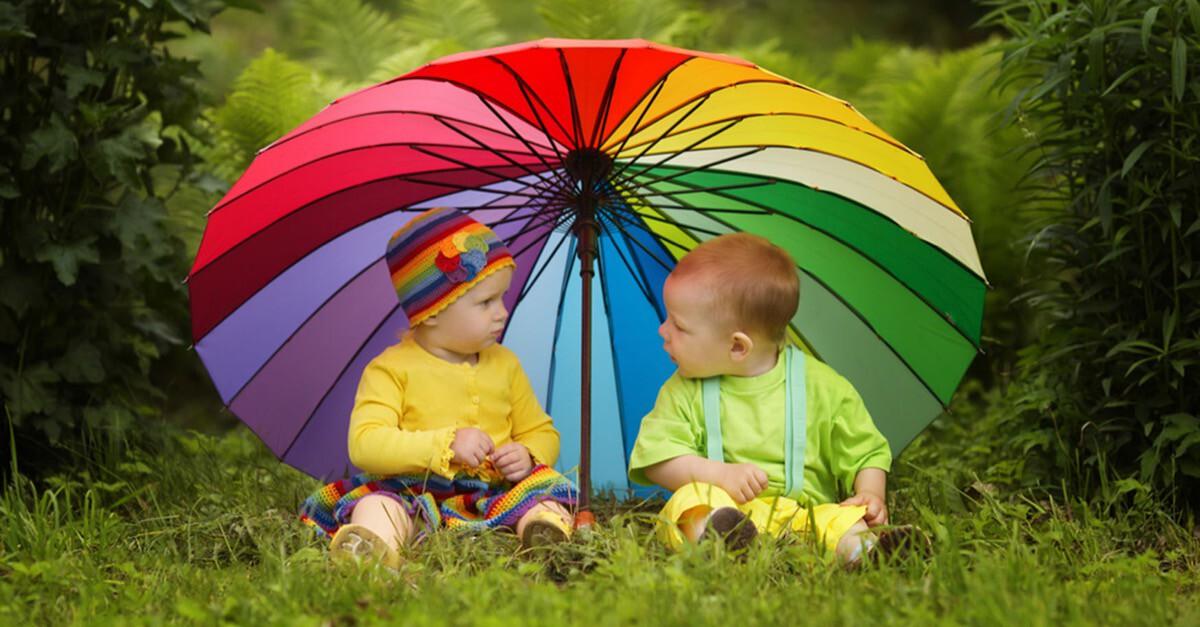 Babys und Regen