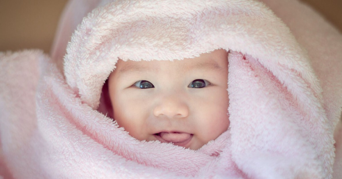 Drei Monate altes Baby
