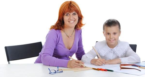 Alleinerziehende Eltern und Kind