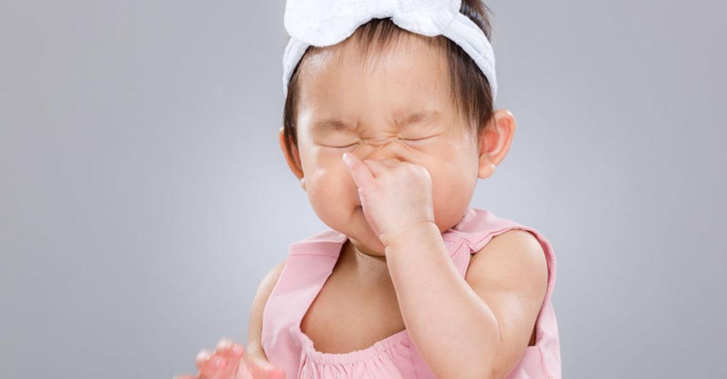 Niesen beim Baby