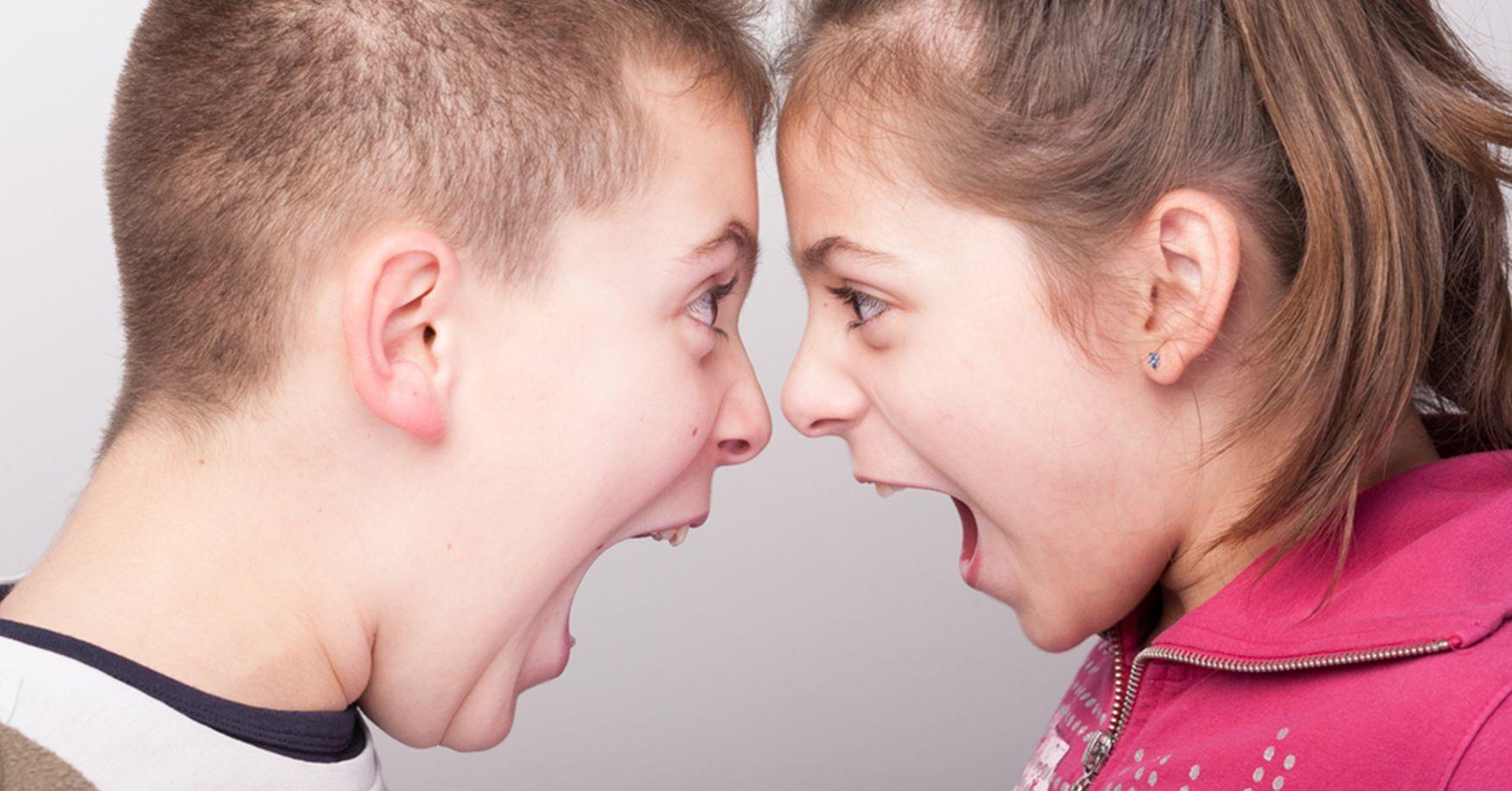 Streitende Kinder