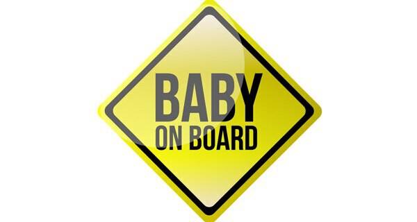 Baby Autoaufkleber mit Namen