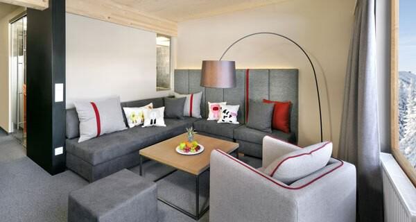 Das Hotel Sonnenalpe bietet für den Winterurlaub schöne Familienzimmer an