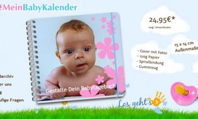 Babykalender online gestalten auf mein-babykalender.com