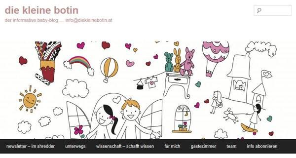 Die Webseite diekleinebotin.at ist ein Blog für alle Eltern mit Baby und Kind