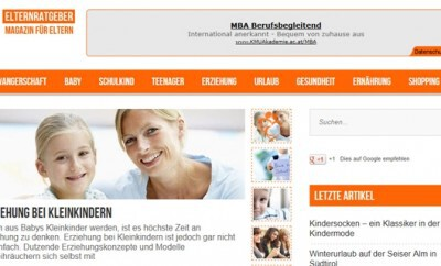 Internetportale für Mütter und Väter