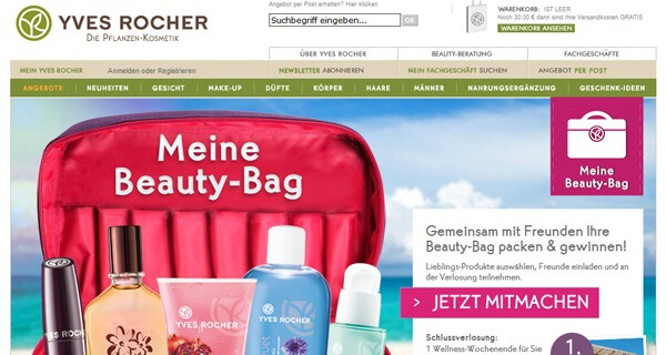 Die Aktion Meine Beauty-Bag von Yves Rocher ist auch bei Müttern beliebt