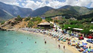 Strand von Bali auf Kreta – ideal für Familien