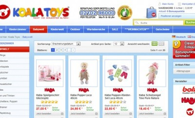 Ausstattung für Babys von Koalatoys