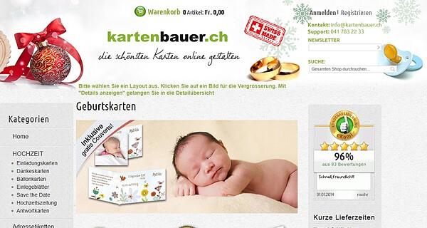 Exklusive Geburtskarten und Dankeskarten