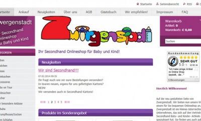 Zwergenstadt.at - Secondhand-Onlineshop für Baby und Kind