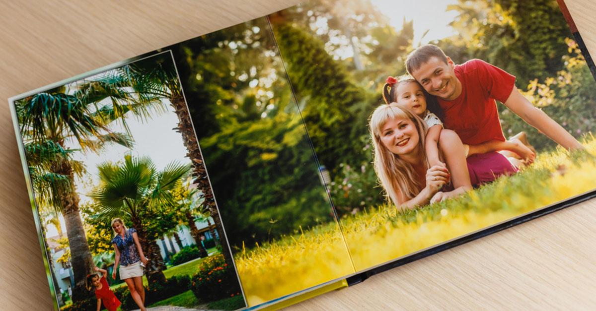 Ein Fotobuch als modernes Fotoalbum für Familienfotos