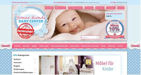 Onlineshop Babycenterschweiz.ch