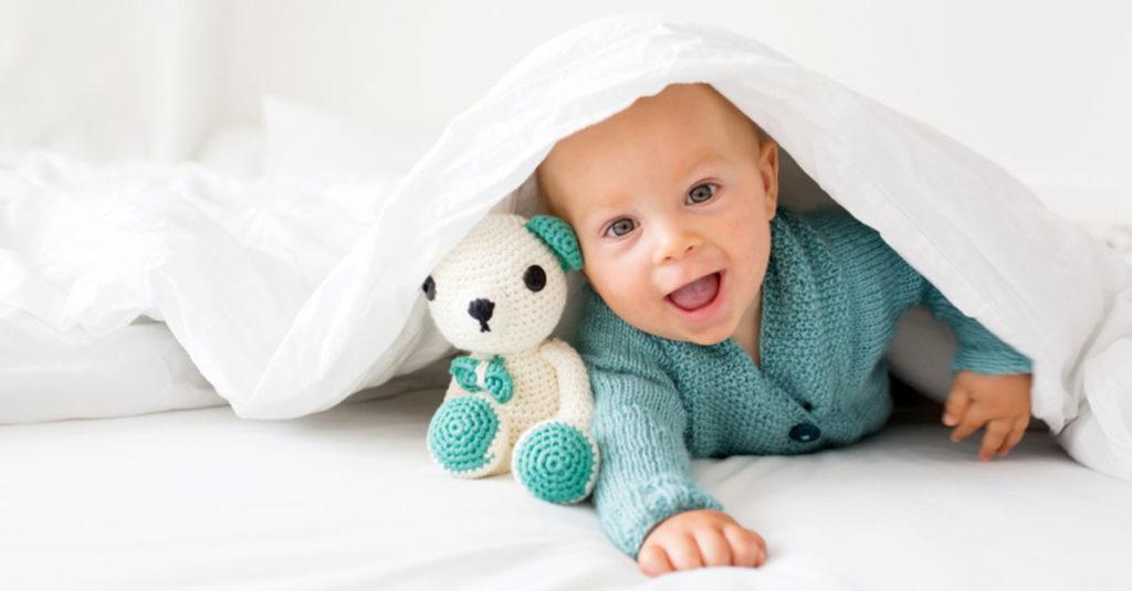 Babydecke finden