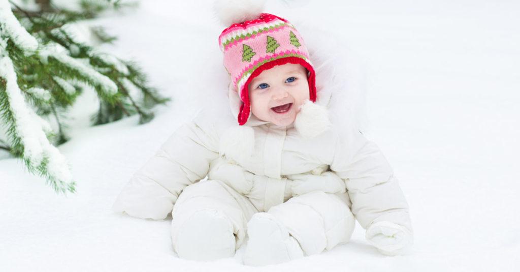 Kälte und Baby