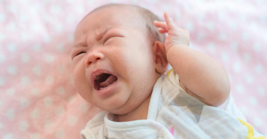 Baby schwitzt