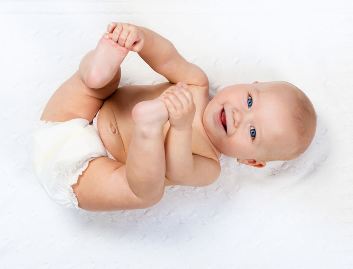 Reinigung des Genitalbereichs beim Baby