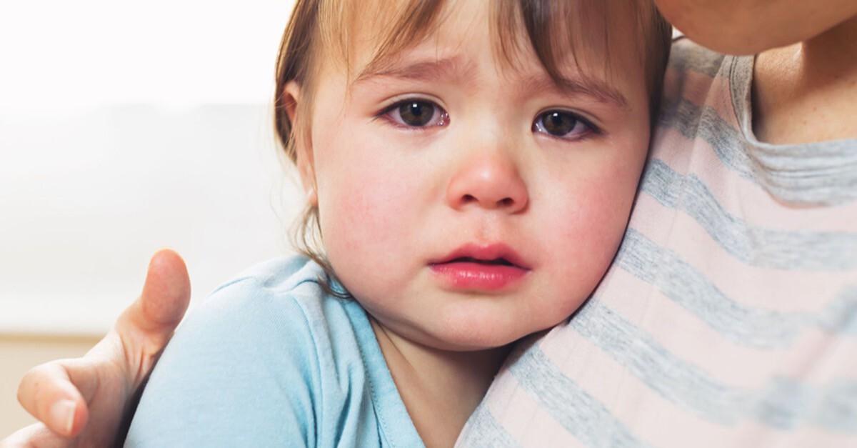 Trauriges Kleinkind