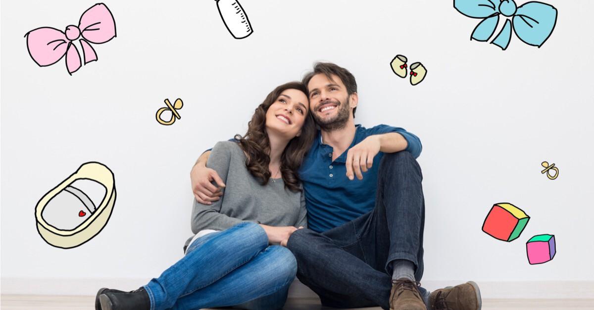 Junges Paar plant Familie