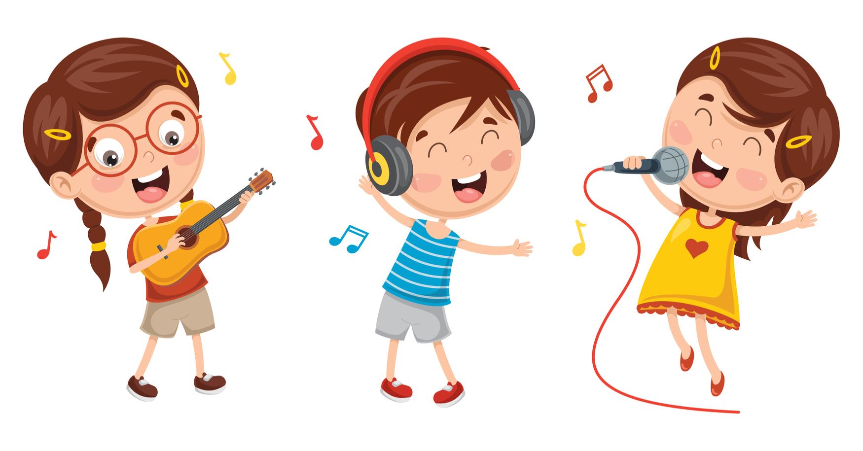 zeichnung kinder singen