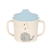 LÄSSIG Sippy Cup Bamboo Little Water Whale
