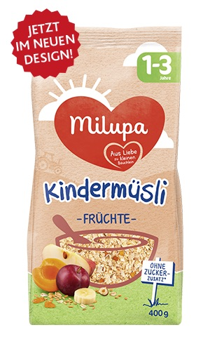 1-3 Jahre Milupa Kinder- müsli Früchte