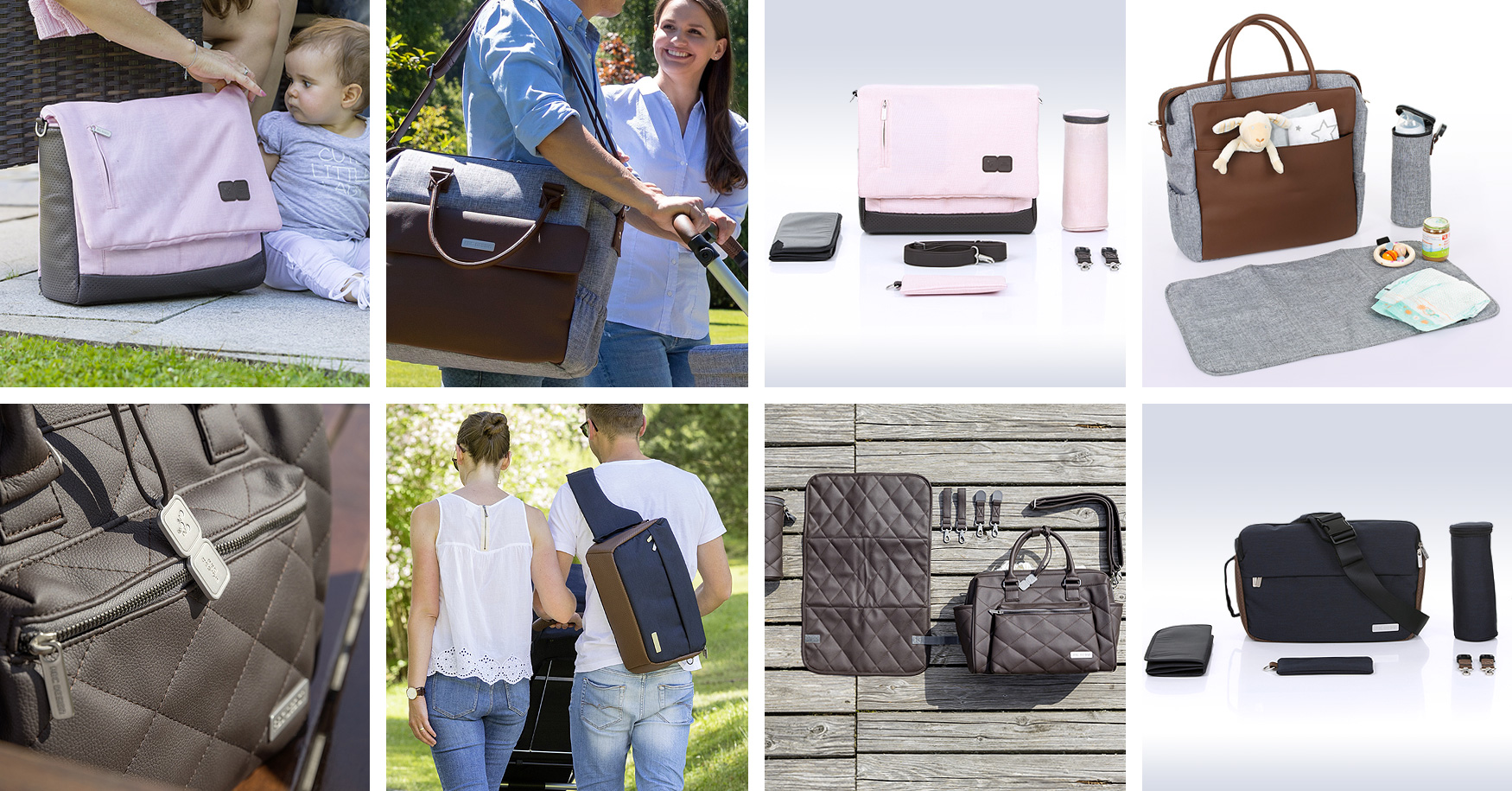 unterwegs mit baby welche wickeltasche ist die richtige f r mich. Black Bedroom Furniture Sets. Home Design Ideas