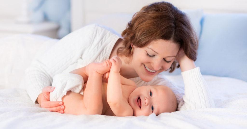 Schlafposition für eine Baby