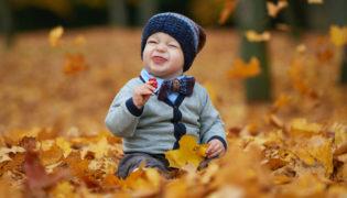 Der erste Herbst mit dem Baby